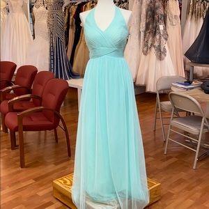 Suzi mint green full length bridesmaid dress